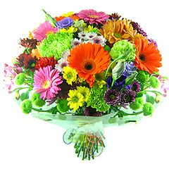 Lindo bouquet colorido com mix de flores.