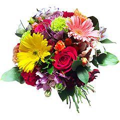 Rosas, alstroemérias, lisanthus, cravos ... um show de cores, flores e alegria.