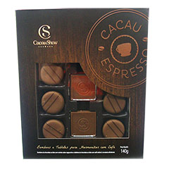 Caixa Bombons Cacau Espresso Cacau Show para harmonização com café.