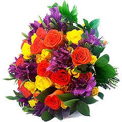 Lindo bouquet de flores mistas com cores super vibrantes exalando beleza, perfume e energia!