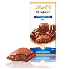 Tablete Lindt Creation Hazelnut 100g