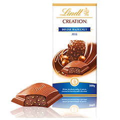 Presentes Tablete Lindt Creation Hazelnut 100g