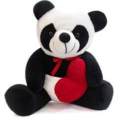 Urso de pelúcia panda com coração!