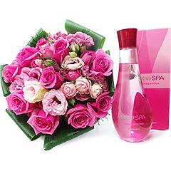 Colônia desodorante frutal envolvente com notas de pitaya, framboesa, morango e cranberry. Acompanha um lindo bouquet de rosas.