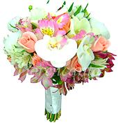 B.Noiva - Orquídea, Alstro E Rosa